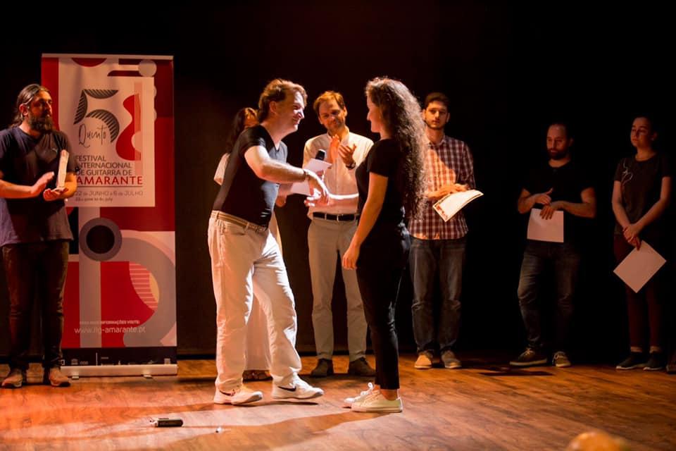 Ana Maria awarded within Amarante Guitar Festival, Portugal