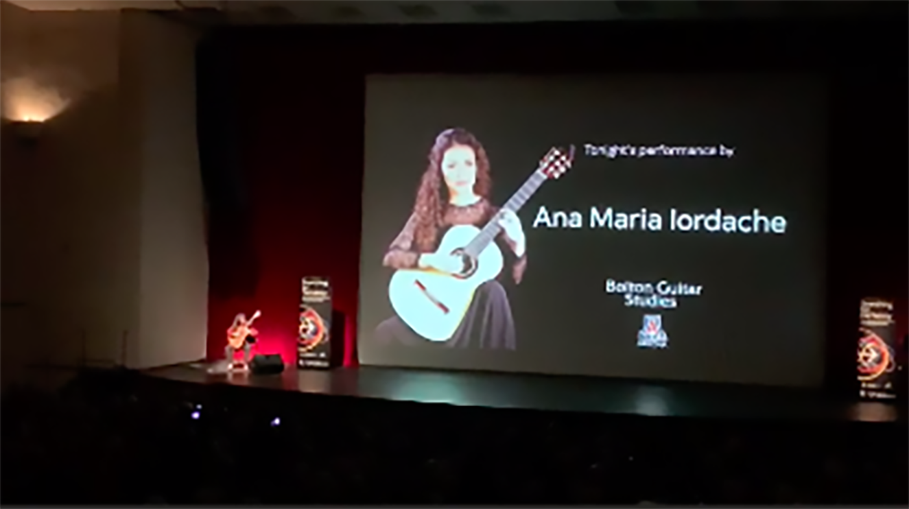 Ana Maria performing at the UofA Centennial Hall